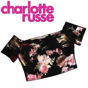 Charlotte Russe – Floral Cold Shoulder Crop Top
